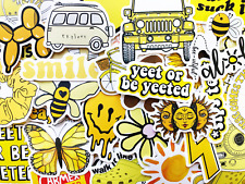 50 Yellow Sticker Bomb Scrapbooking Laptop Phone Skin Lot Set Decals Decoration