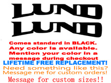 "PAIR OF 24"" LUND BOAT HULL DECALS MARINE GRADE. YOUR COLOR CHOICE. 130"