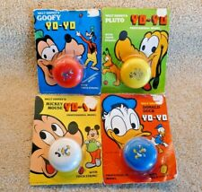 "1970s Vintage FESTIVAL ""DISNEY PALS"" YoYo COLLECTION ON ORIGINAL BLISTER CARDS"