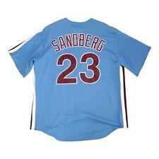 Ryne Sandberg Philadelphia Phillies Cooperstown Road Blue MLB Jersey Men's XL