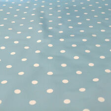Polka Wipe Clean Tablecloth Oilcloth Vinyl PVC