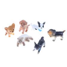 6Pcs/Set simulation cat and dog Dollhouse Miniature Model Decoration Gift ToysLJ