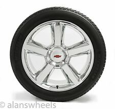 "4 NEW Chevy Suburban Tahoe RBT Chrome 22"" Wheels Rims Michelin Tires 5308"