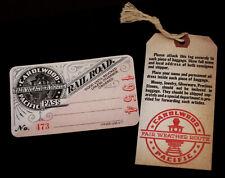 Walt Disney Carolwood Pacific Railroad Pass and Baggage Tag 1954 2003 Disneyland
