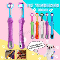 3 Sided Pet Dog Cat Health Cleaning Teeth Care Toothbrush Toothpaste Kit Brush