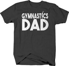 Gymnastics dad proud supporter floor exercise silhouette T-shirt