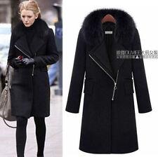 Winter New Women's Zipper Woolen Trench Coats Top Popular Design Overcoat Jacket