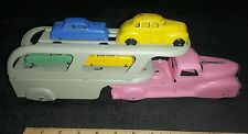 Marx wyandotte pressed steel toy car hauler auto carrier toy