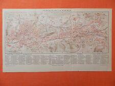 Elberfeld und Barmen (  WUPPERTAL ) historischer Stadtplan 1897 City Map