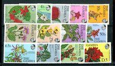 Gambia QEII 1977 flowers & shrubs set of 13 SG371//83 MNH