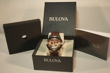 Bulova Classic Self-Winding Automatic Wristwatch for Men 21 Jewel 96A120 Leather