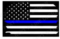 Back The Blue, American Flag, America, Window Sticker, Car Decal, Blue Line