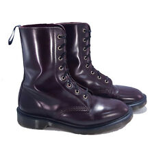 Dr. Martens Doc MIE England Burgundy Rub-off Leather Langston Boots UK 7 US 8