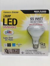 65W LED FLOOD DIMMABLE 65 WATTS 750 LUMENS REPLACEMENT BULB USES ONLY 13 WTS B19