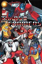 TRANSFORMERS ~ AUTOBOTS COLLAGE 24x36 CARTOON POSTER Movie Optimus Animated
