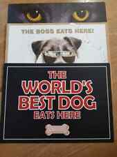 Placemat For Pats Cat Eyes The Boss Eat Here The World's Best Dog Eat Here New