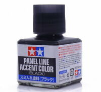TAMIYA 田宮 タミヤ Panel Line Accent Color 87131 Black (40ml) For Plastic Model Kit