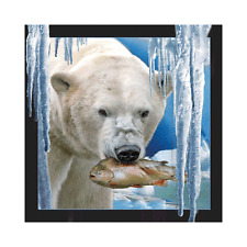 Worth Keeping 3D Lenticular Post Card - Polar Bear With Fish - Wk-Pc-022
