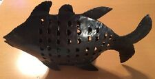 Big Metal Fish Hanger With Door 16 1/2""