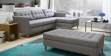Sitzpuff Quest Eckcouch Set Sofa Bettkasten mit Schlaffunktion Farbe Savana 5
