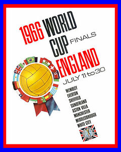 """1966 England World Cup Poster - 8""""x10"""" Color Photo"""