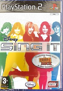 Disney Sing It Playstation 2 PS2 Game Sealed - Camp Rock Hanna Montana