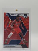 Zion Williamson 2019-20 Panini Mosaic NBA Debut Red Wave Prizm RC #269
