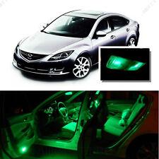 For Mazda 6 2014-2016 Green LED Interior Kit + Green License Light LED