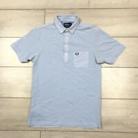 Fred Perry Polo Shirt Slim Fit Blue Small