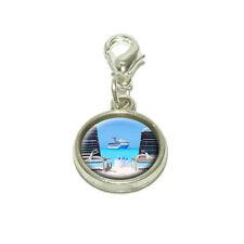 Beach Chair Cruise Ship Caribbean Ocean Dangling Bracelet Pendant Charm