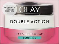 Olay Double Action Day & Night Moisturiser Cream Sensitive Hydrating Care 50ml