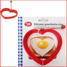 Silicone Egg Poachette Ring Heart Shape RED TALA Poacher Pancake Moulds Mold