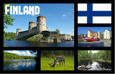 FINLAND - SOUVENIR NOVELTY FRIDGE MAGNET - FLAGS / SIGHTS - GIFT - BRAND NEW