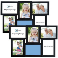 6-Opening Collage Photo Picture Frame With Glass Black 5x7 Set Of 2 Home Decor