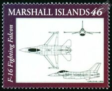 USAF General Dynamics F-16 FIGHTING FALCON Fighter Aircraft Design Stamp