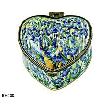 KELVIN CHEN Enamel Copper Heart Box - Iris by VAN GOGH