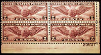 #C16 Air Post 5c Violet 1931 VF Plate #20607 Block of 4 *MNH*