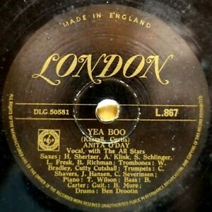 RARE GOLD LONDON 78 ANITA O'DAY - YEA BOO / TENNESSEE WALTZ UK LONDON L 867 V/V+
