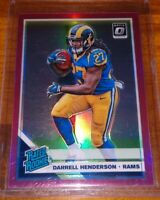 2019 Darrell Henderson Optic Rated Rookie Pink Holo Prizm Refractor LA Rams RC