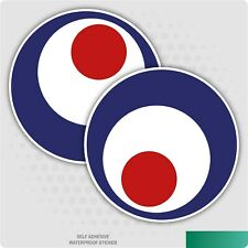 RAF Crazy Eyes Self Adhesive Stickers Red, White and Blue Safety Signs