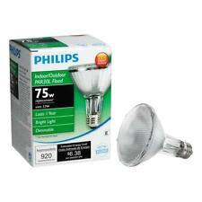 THREE Philips Dimmable Floodlight Bulbs 75W Halogen Indoor Outdoor Lighting
