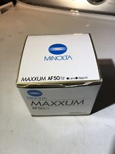 Minolta (Sony A Mount) Maxxum 50mm f1.7AF Lens Clean Optics Mint Condition