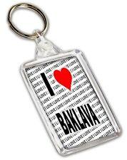 I Love Baklava Keyring - Gift - Birthday - Christmas - Stocking Filler