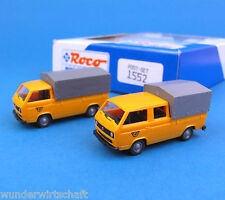 Roco H0 1552 POST-Set ÖPT VW T3 Transporter + DoKa Pritsche Plane OVP HO 1:87