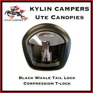 Black Whale Tail Lock/ Compression T Lock/ Recessed Folding Lock for Ute Canopy