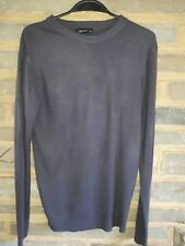 Cedarwood State Mens Grey Fine Knit Long Sleeved Crew Neck Jumper Size Small