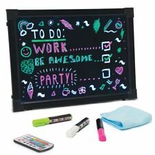 Large LED Neon Message Writing Board Colour Changing Flashing Remote Bar Display