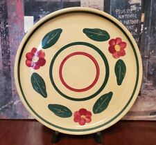 Authentic Watt Pottery Pansy Rio Rose - Bullseye *PIE PLATE* #33 - 9 1/4 inch