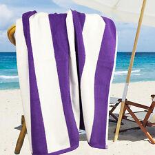 Ramesses 100% Cotton Jacquard Beach Towels, Large Size 150x75cm, Purple Stripe