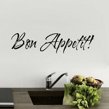 Bon Appetit Quote Home Kitchen Dining Room Decor Vinyl Decals Wall Sticker
